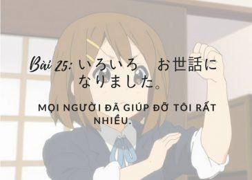Bài kiểm tra Minano Nihongo: bài 25
