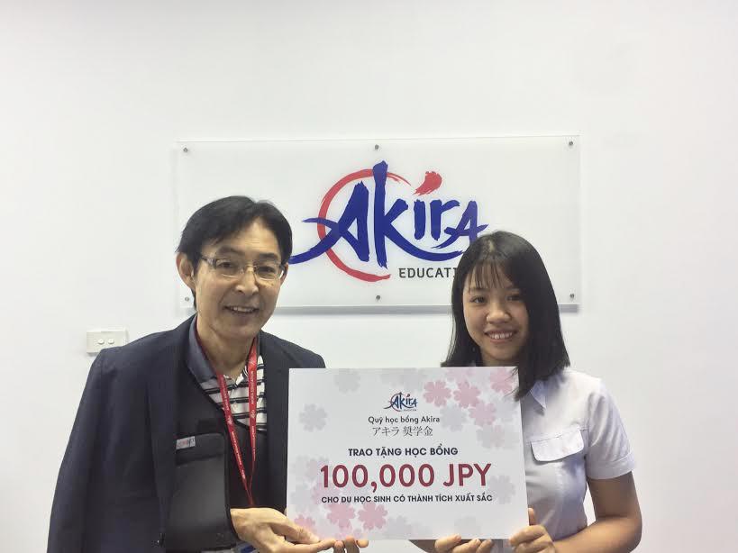 học bổng du học Akira