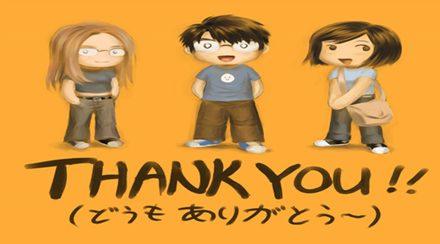 Học cách nói lời cảm ơn trong tiếng Nhật