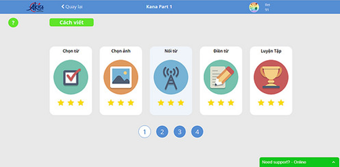 Học tiếng Nhật online 2