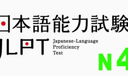 Đề thi thử JLPT N4 (có đáp án)
