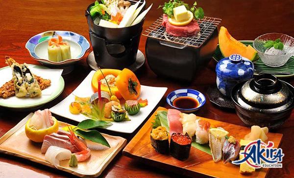 Du học nấu ăn Nhật Bản có thể tiếp xúc với nền ẩm thực đặc sắc của Nhật