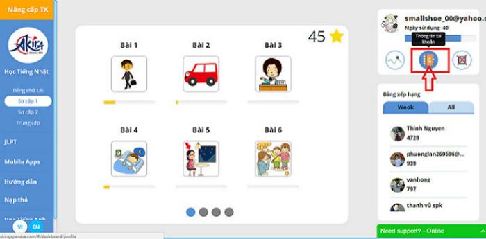 Khóa học tiếng Nhật online chuẩn chất lượng