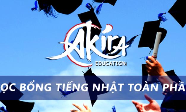 Học bổng tiếng Nhật Akira 2018