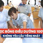 Học bổng điều dưỡng 100% – Không yêu cầu tiếng Nhật