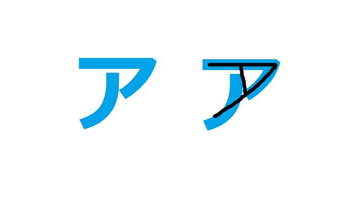 Chữ A bảng chữ cái Katakana