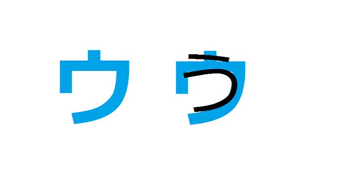 Chữ u bảng katakana